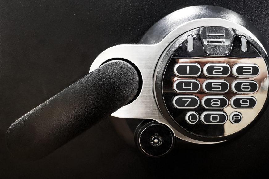 black safe room lock