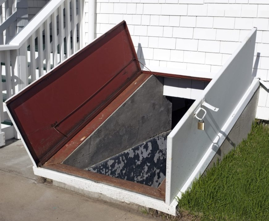 Storm shelter attached to house-min