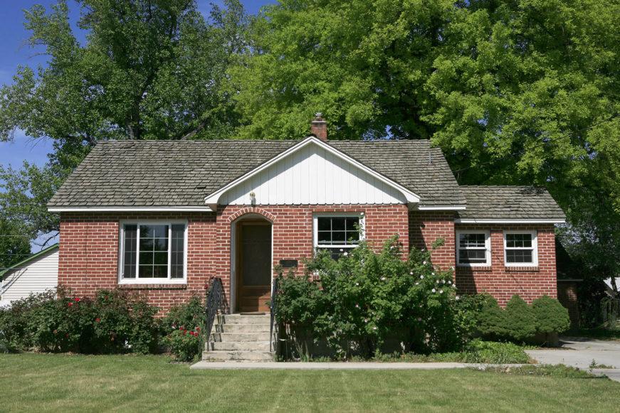 Small brick home